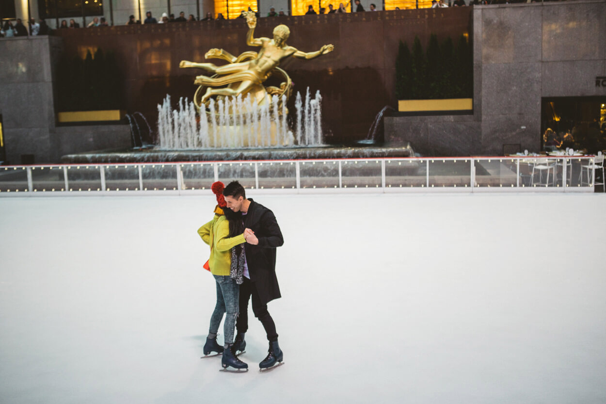 Photo 9 Ice Skating Marriage Proposal. The Rink at Rockefeller Center. | VladLeto