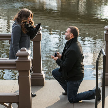 Photo Bow Bridge view Marriage Proposal. Central Park. | VladLeto