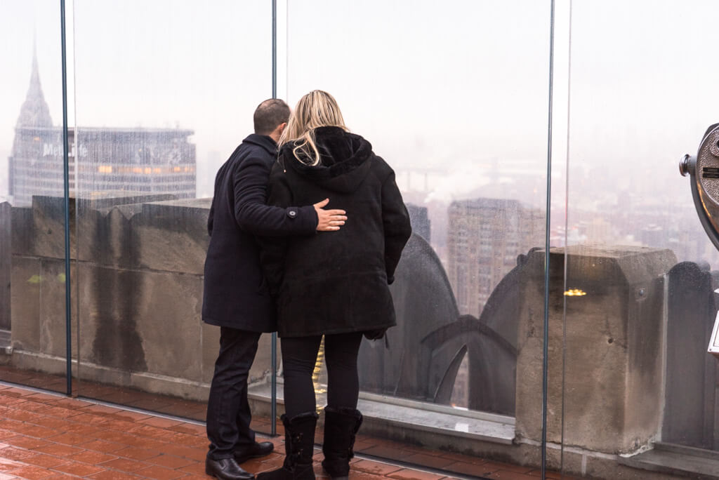 Photo Top of The Rock Marriage Proposal