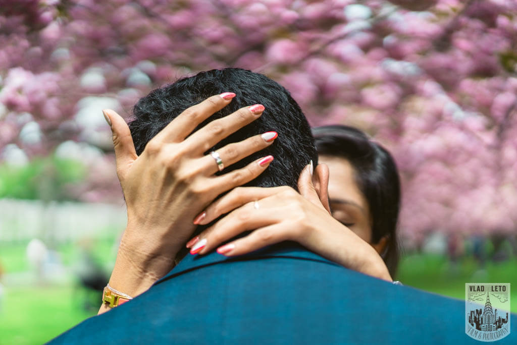 Photo 17 Cherry Blossom Marriage Proposal in Brooklyn Botanical Garden | VladLeto