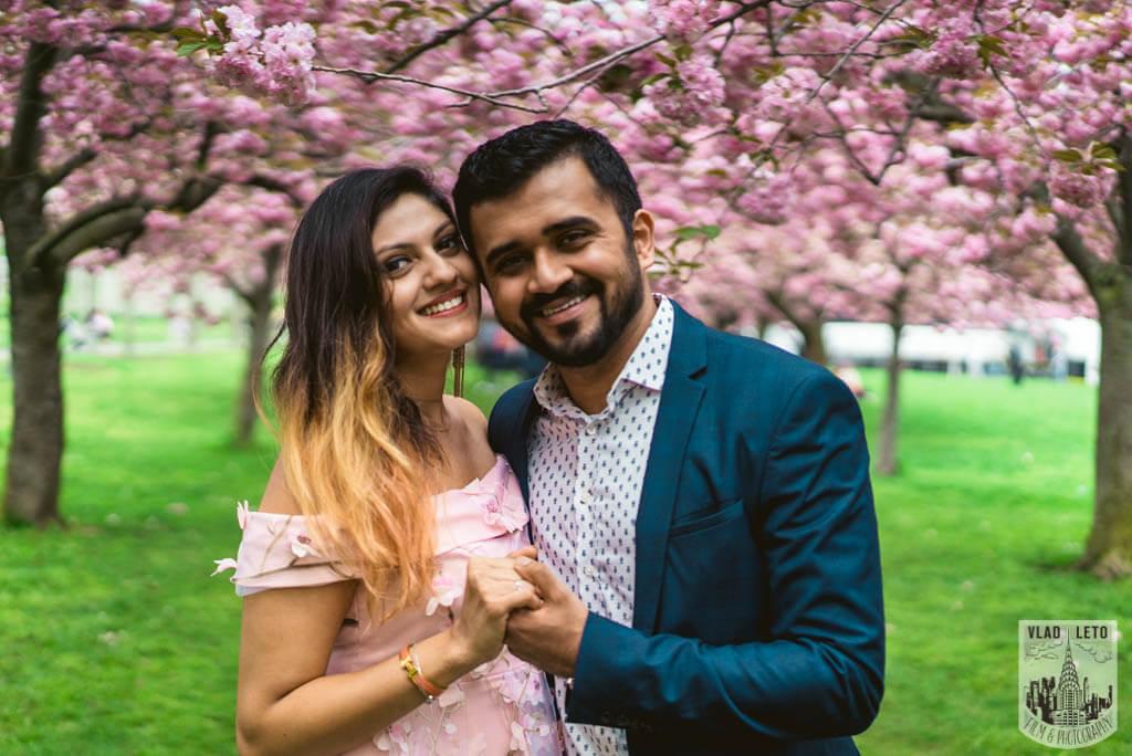 Photo 9 Cherry Blossom Marriage Proposal in Brooklyn Botanical Garden | VladLeto
