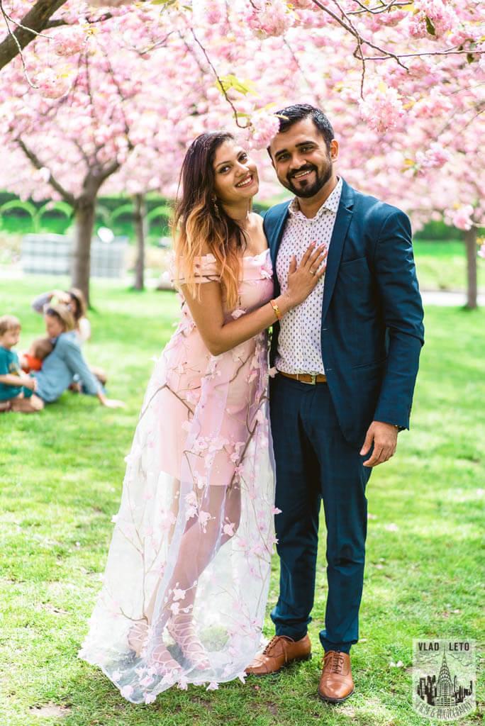 Photo 13 Cherry Blossom Marriage Proposal in Brooklyn Botanical Garden   VladLeto