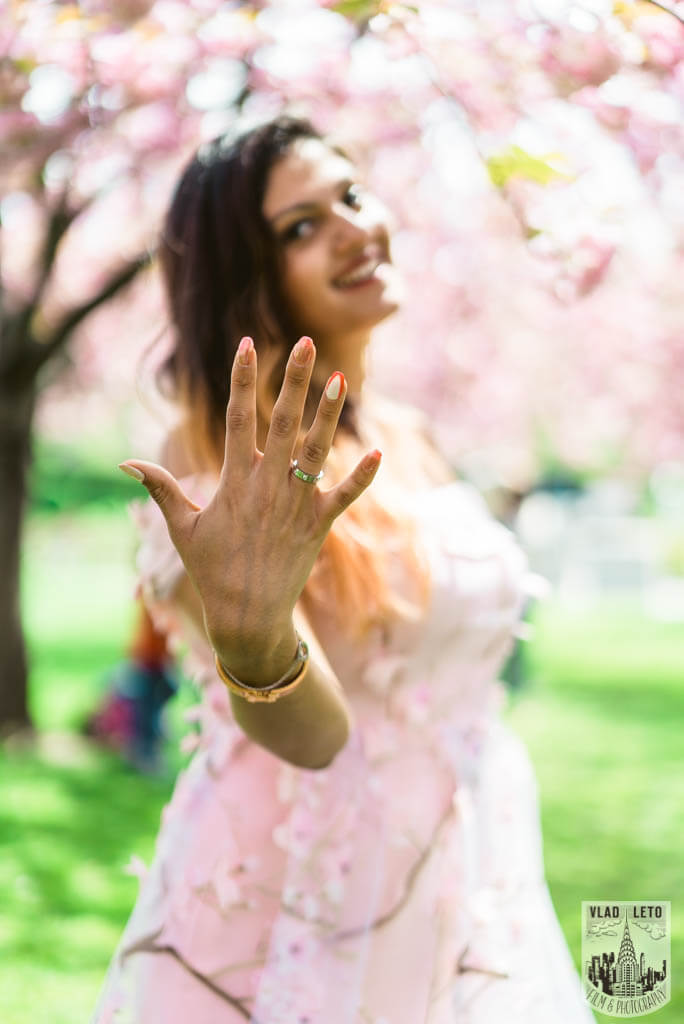 Photo 27 Cherry Blossom Marriage Proposal in Brooklyn Botanical Garden | VladLeto