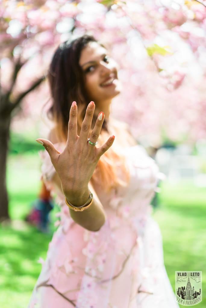 Photo 15 Cherry Blossom Marriage Proposal in Brooklyn Botanical Garden | VladLeto