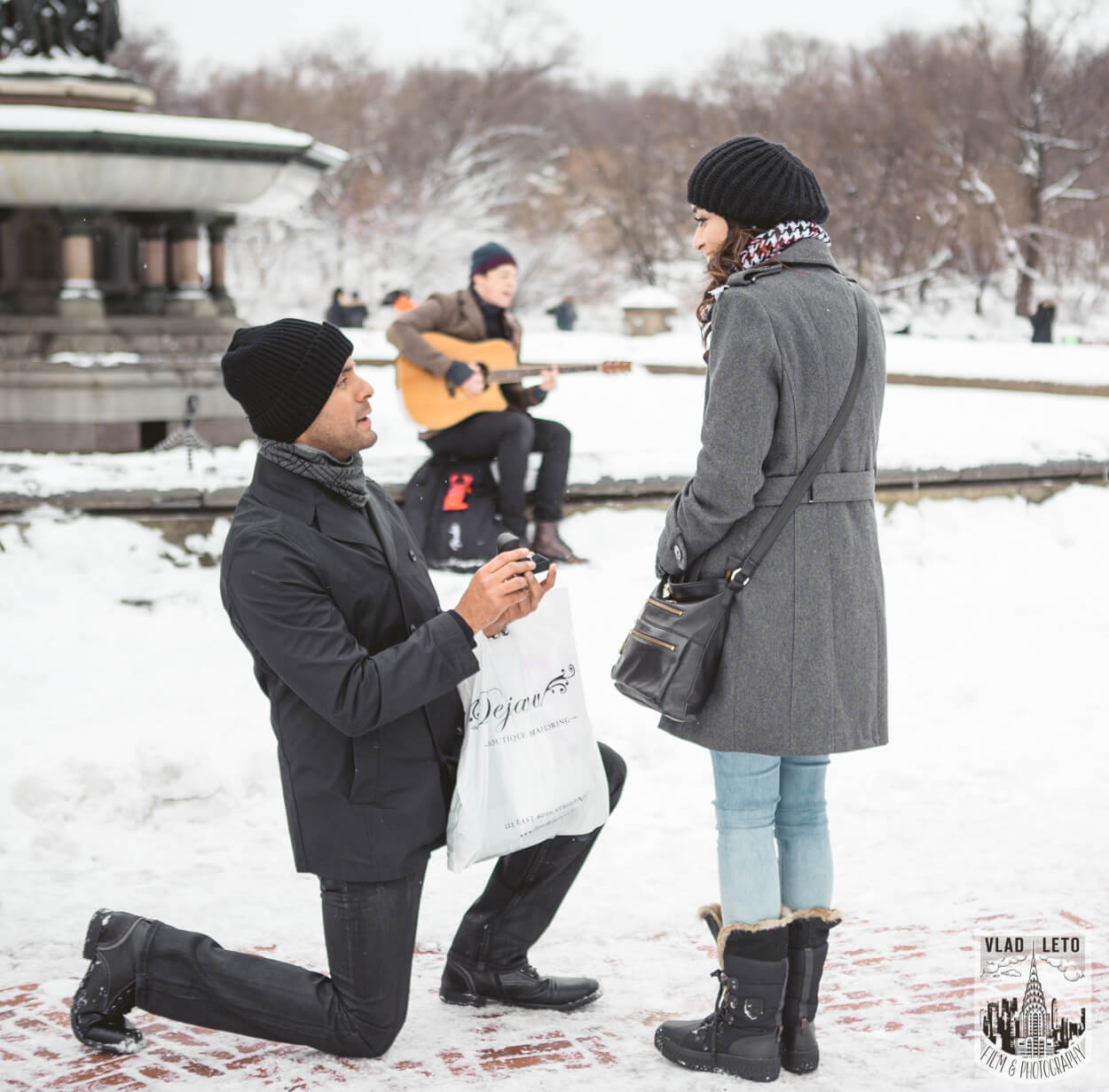 Photo 2 Central Park Bethesda Terrace Marriage Proposal with a guitarist   VladLeto