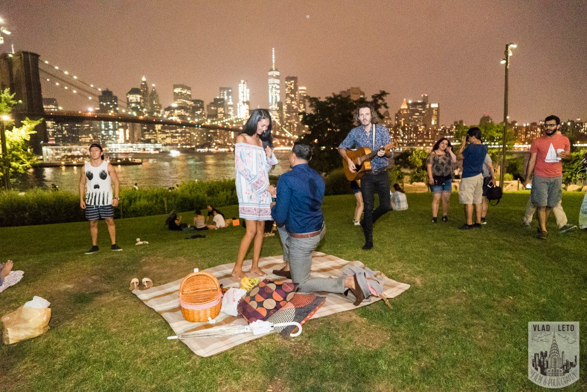 Photo 7 Brooklyn Bridge Picnic Proposal | VladLeto