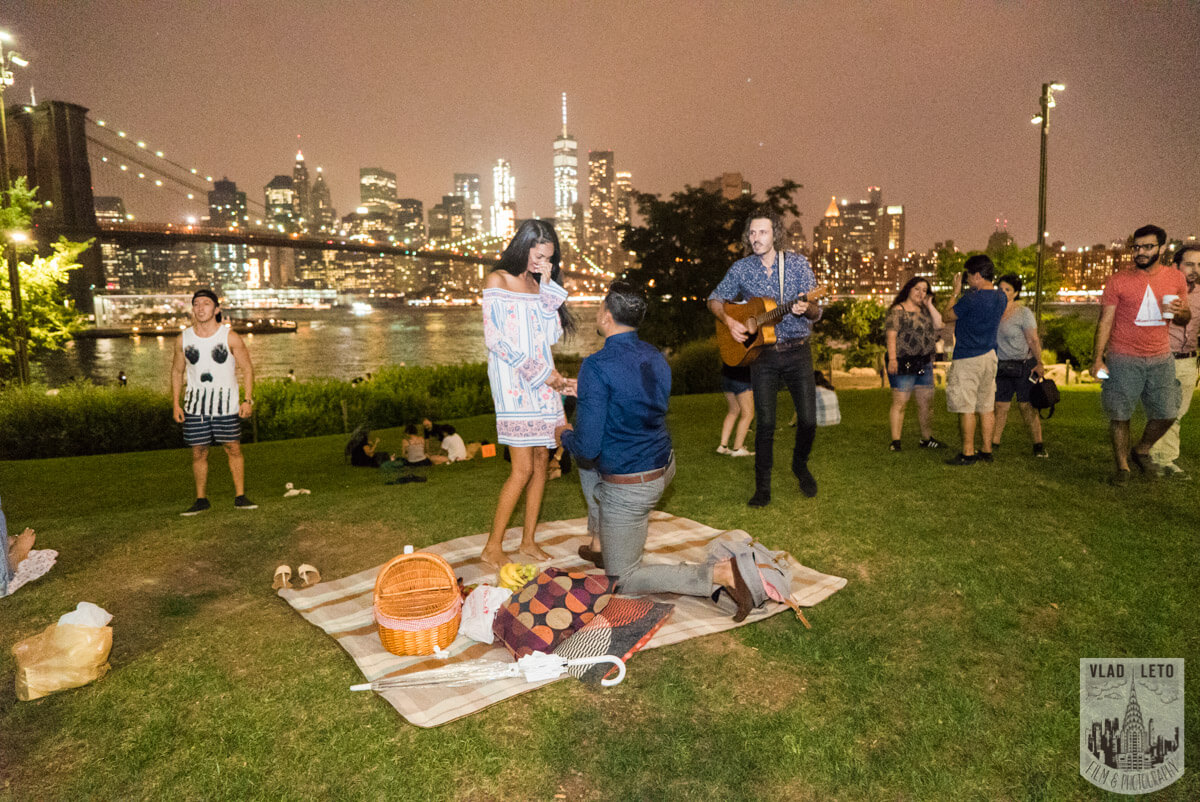 Photo 11 Brooklyn Bridge Picnic Proposal | VladLeto