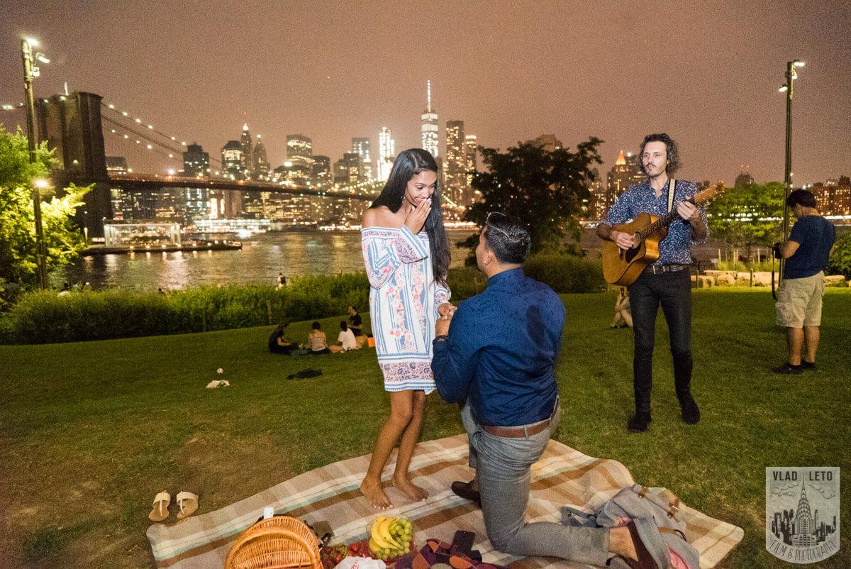 Photo 5 Brooklyn Bridge Picnic Proposal | VladLeto