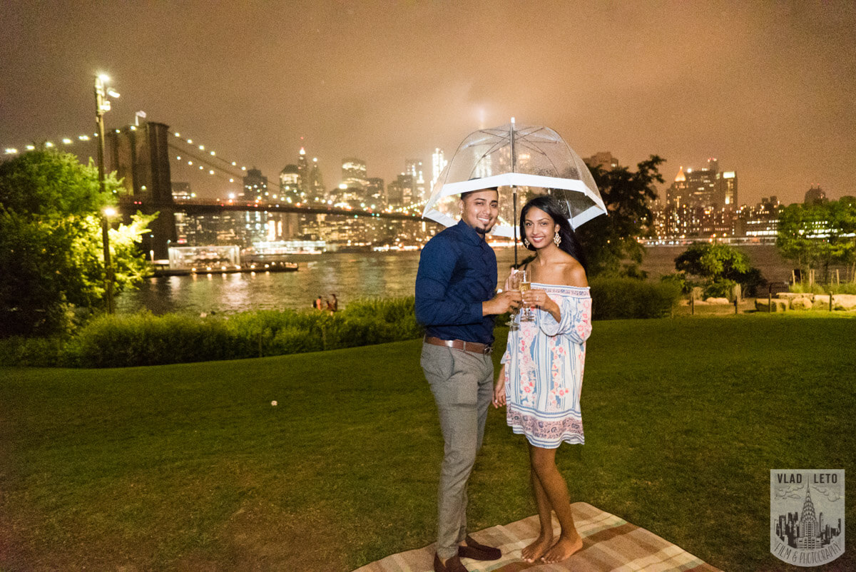 Photo 27 Brooklyn Bridge Picnic Proposal | VladLeto
