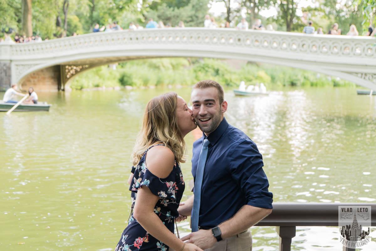 Photo 4 Ben and Kristen Surprise proposal by Bow bridge | VladLeto