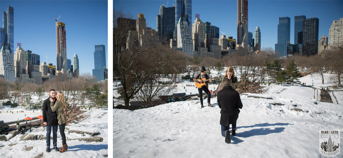 Proposal at Cat Rock in Central Park