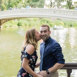 Photo Ben and Kristen Surprise proposal by Bow bridge | VladLeto