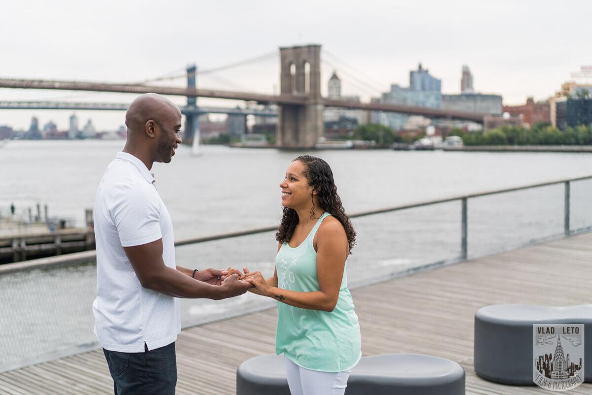 Photo 3 Brooklyn Bridge view Wedding Proposal. | VladLeto