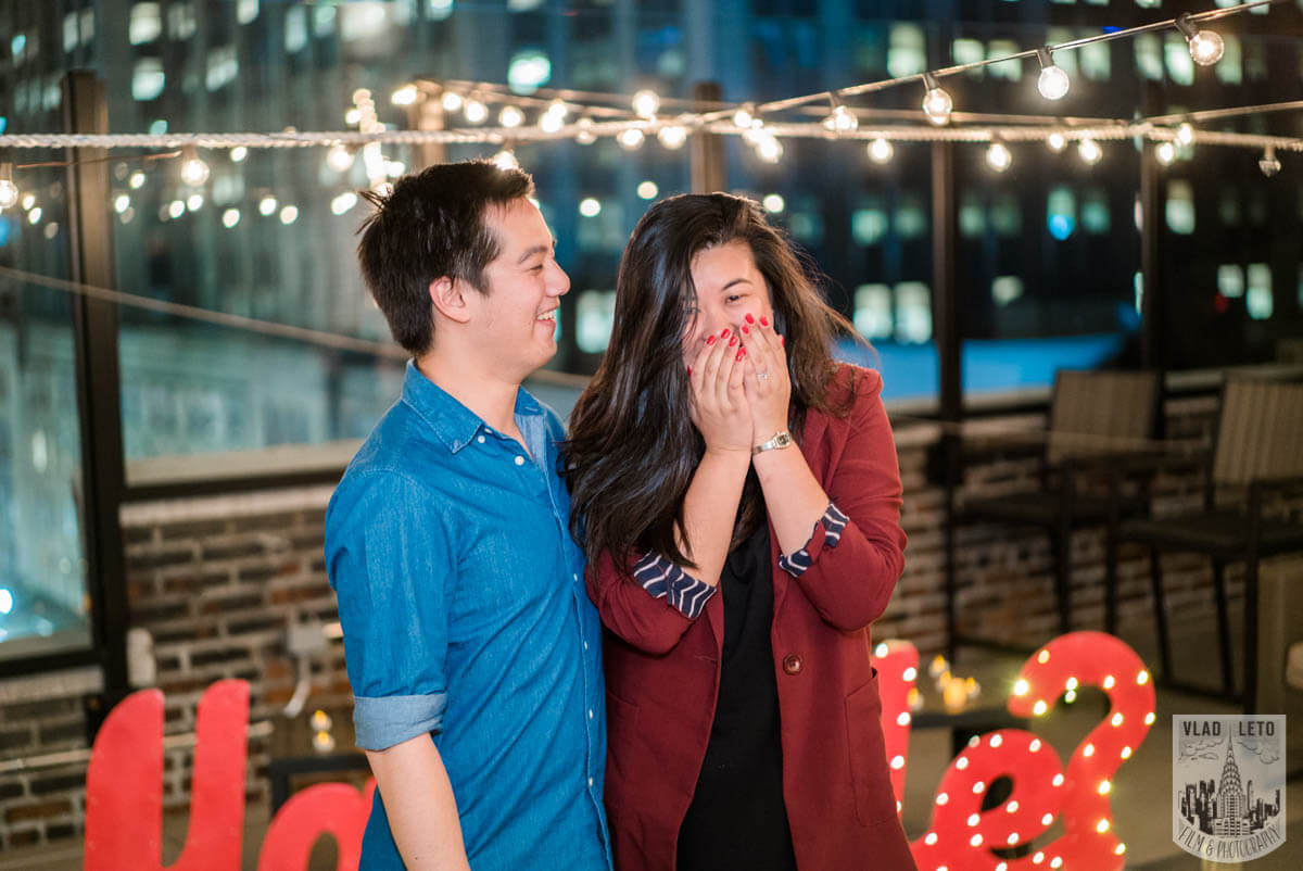 Photo 9 Rooftop proposal Empire State building view | VladLeto