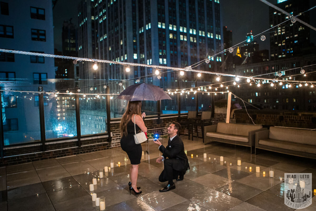 Photo 2 Rooftop Proposal with Empire State Building view | VladLeto