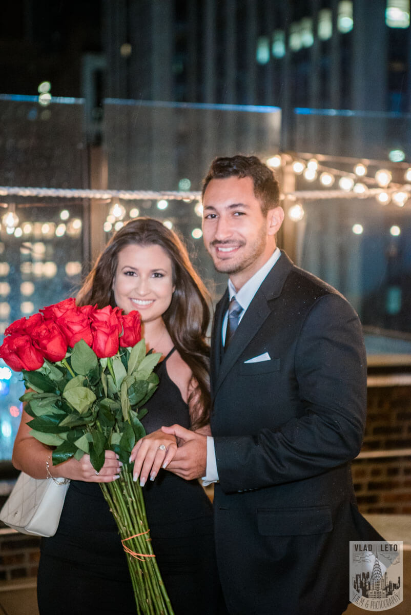 Photo 7 Rooftop Proposal with Empire State Building view | VladLeto