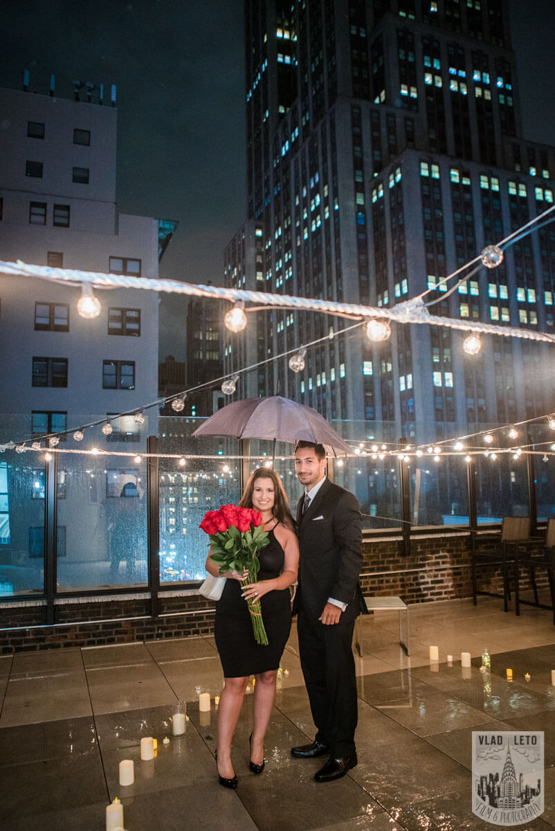 Photo 9 Rooftop Proposal with Empire State Building view | VladLeto