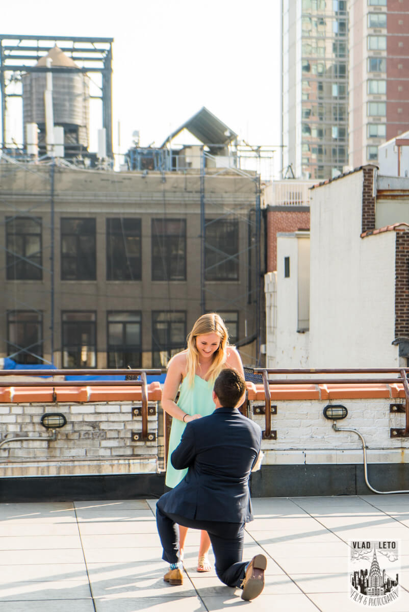 Photo Empire State building view Marriage proposal. | VladLeto