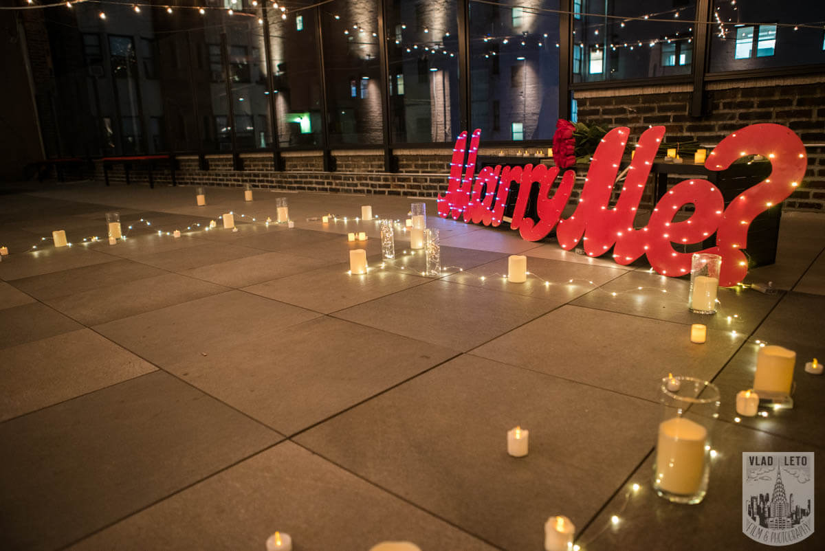 Photo 3 Rooftop Proposal with Empire State building view | VladLeto