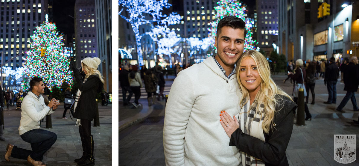 Christmas tree proposal ideas NYC