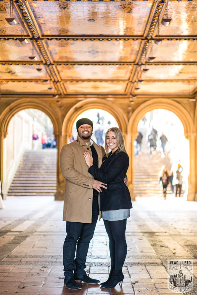 Engagement photo from Central Park