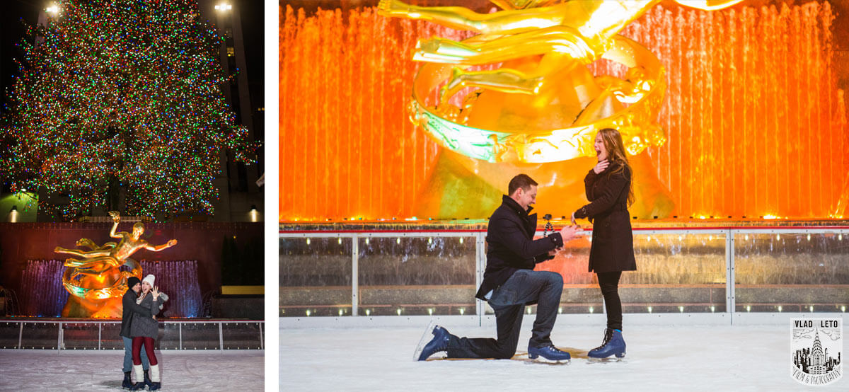 rockefeller center proposal on ice