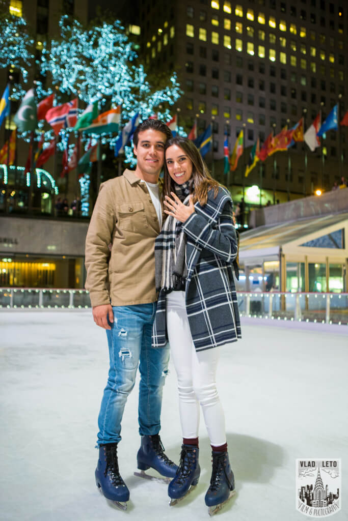 Photo 7 Engagement on Ice. Rockefeller Center Ice Skating Rink. | VladLeto