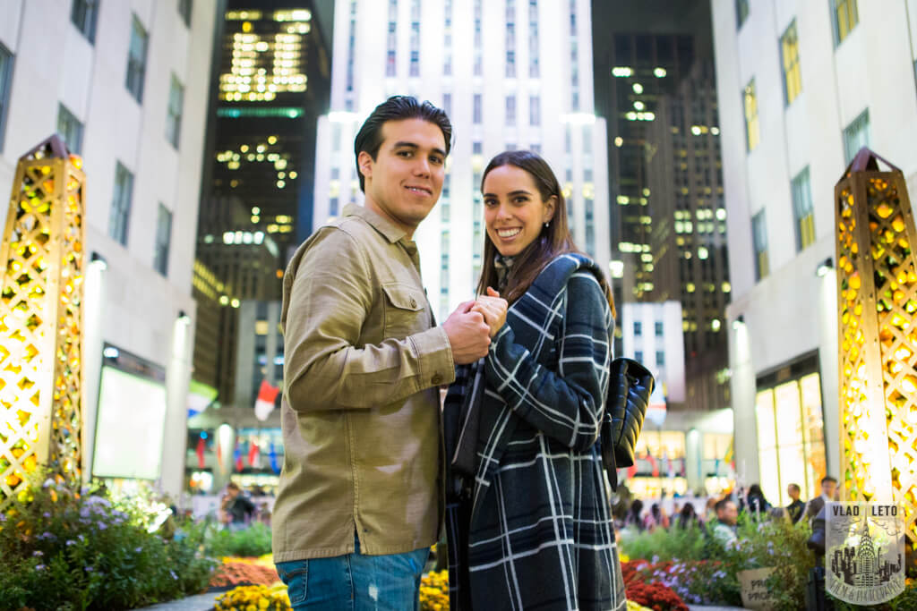Rockefeller Center Marriage proposal photo
