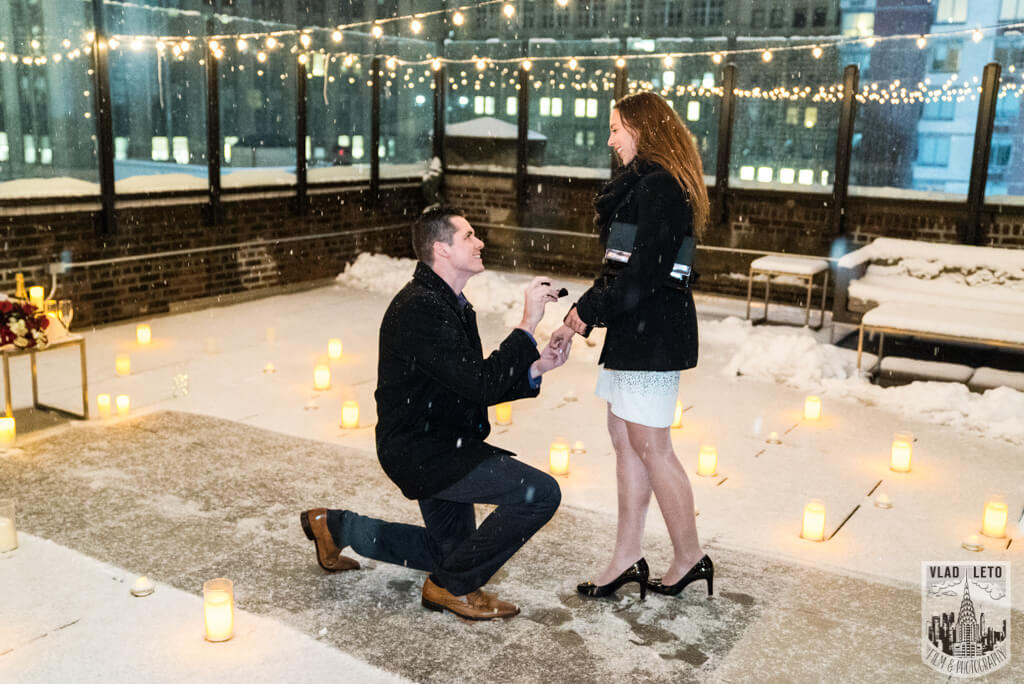Photo Surprise proposal on Private Rooftop with Empire State Building.   VladLeto