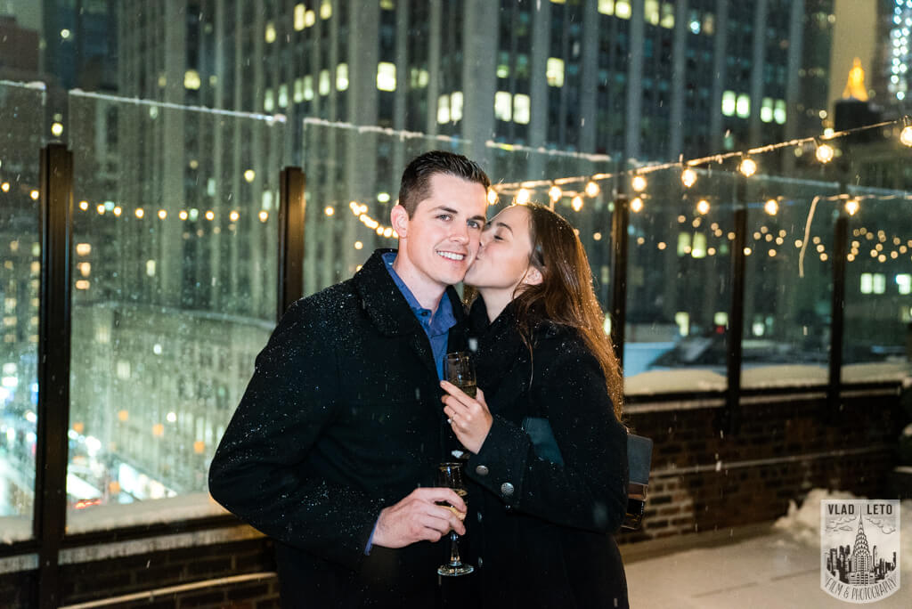 Photo 4 Surprise proposal on Private Rooftop with Empire State Building.   VladLeto
