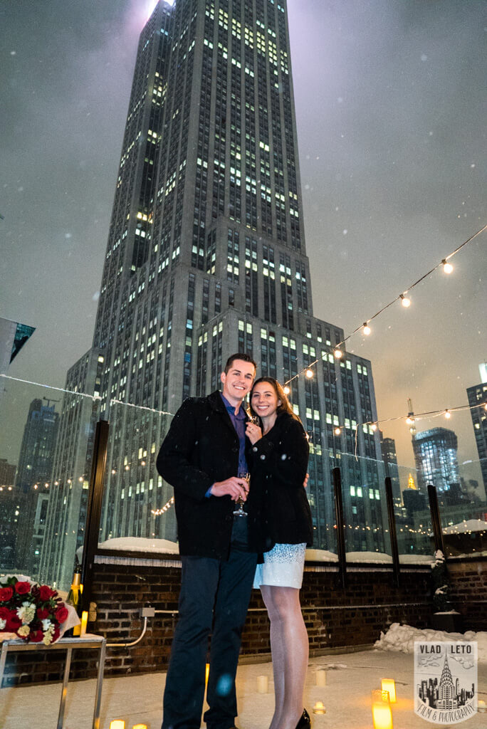 Photo 5 Surprise proposal on Private Rooftop with Empire State Building.   VladLeto