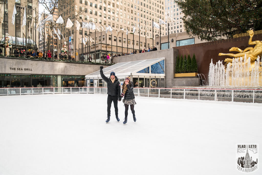 Photo 6 Ice Skating Marriage Proposal at The Rink at Rockefeller Center | VladLeto