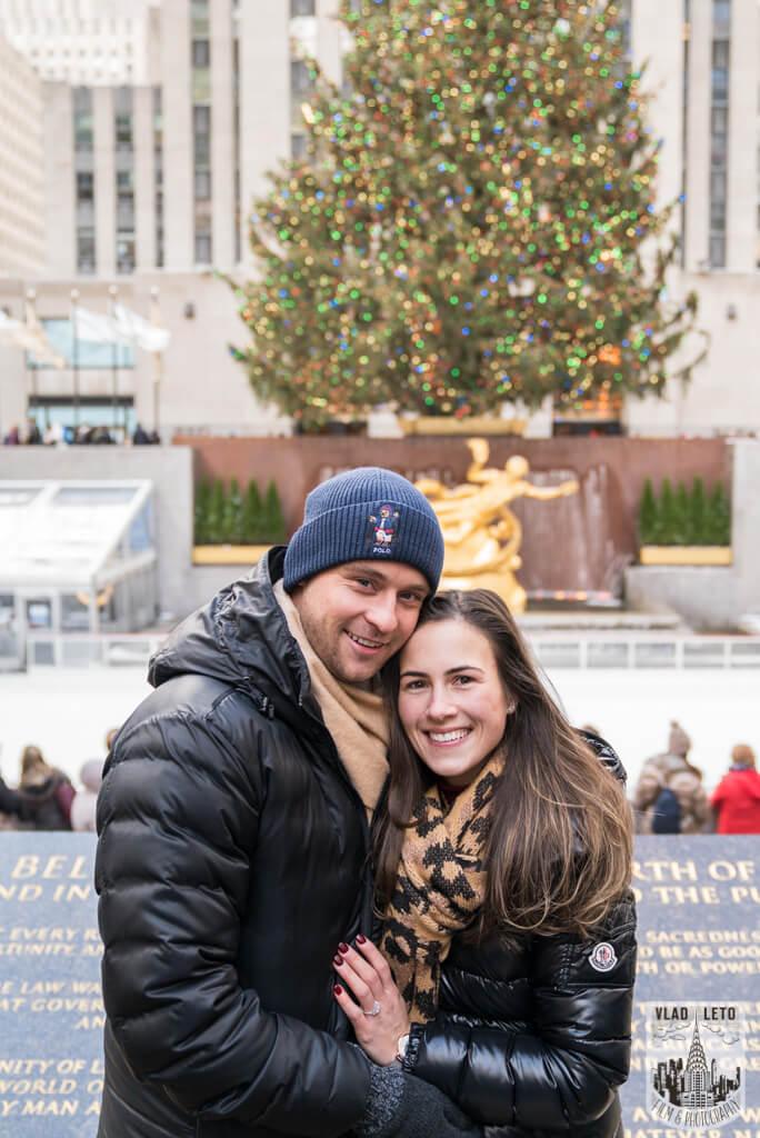Photo 7 Ice Skating Marriage Proposal at The Rink at Rockefeller Center | VladLeto