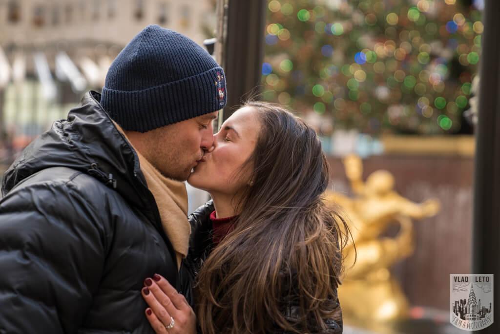 Photo 9 Ice Skating Marriage Proposal at The Rink at Rockefeller Center | VladLeto