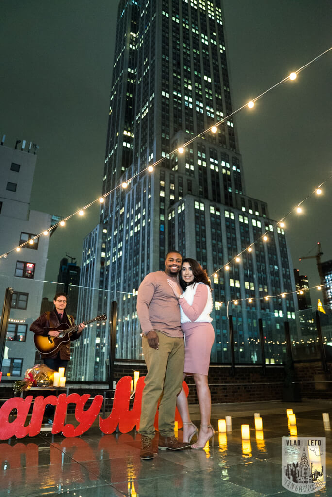 Photo 7 Rooftop Proposal with Empire State view | VladLeto