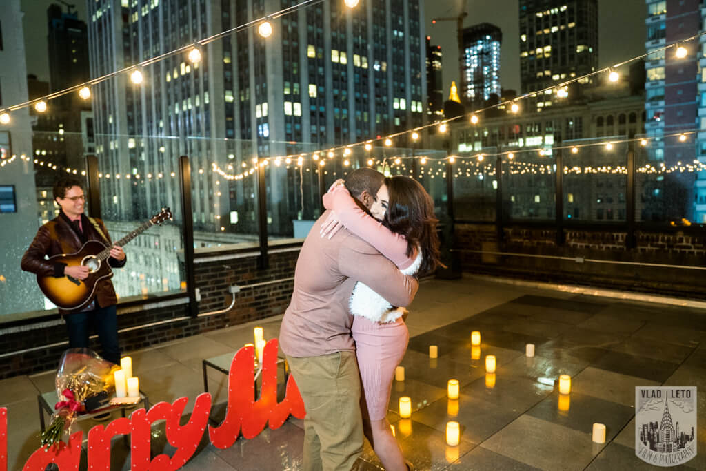 Photo 3 Rooftop Proposal with Empire State view | VladLeto