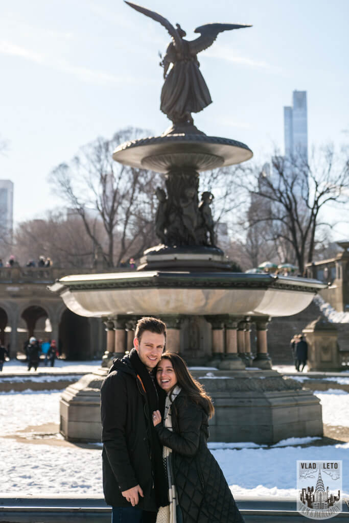 engagement photos from Central Park