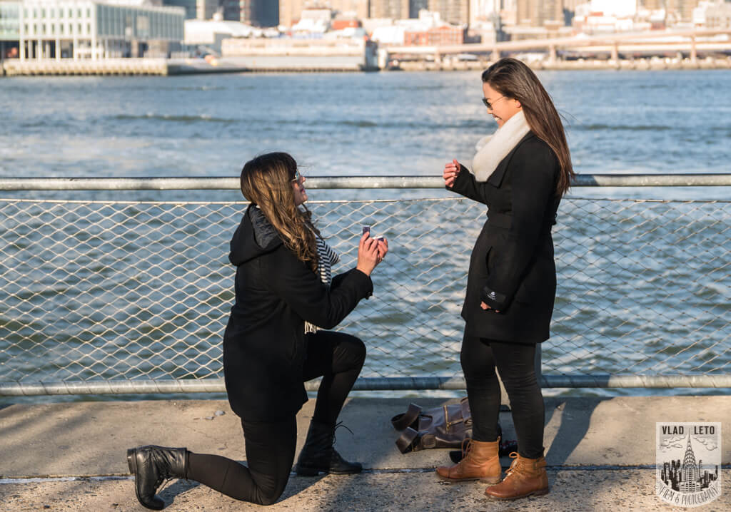 Photo 3 Same Sex proposal by Brooklyn Bridge + Engagement in Central Park | VladLeto