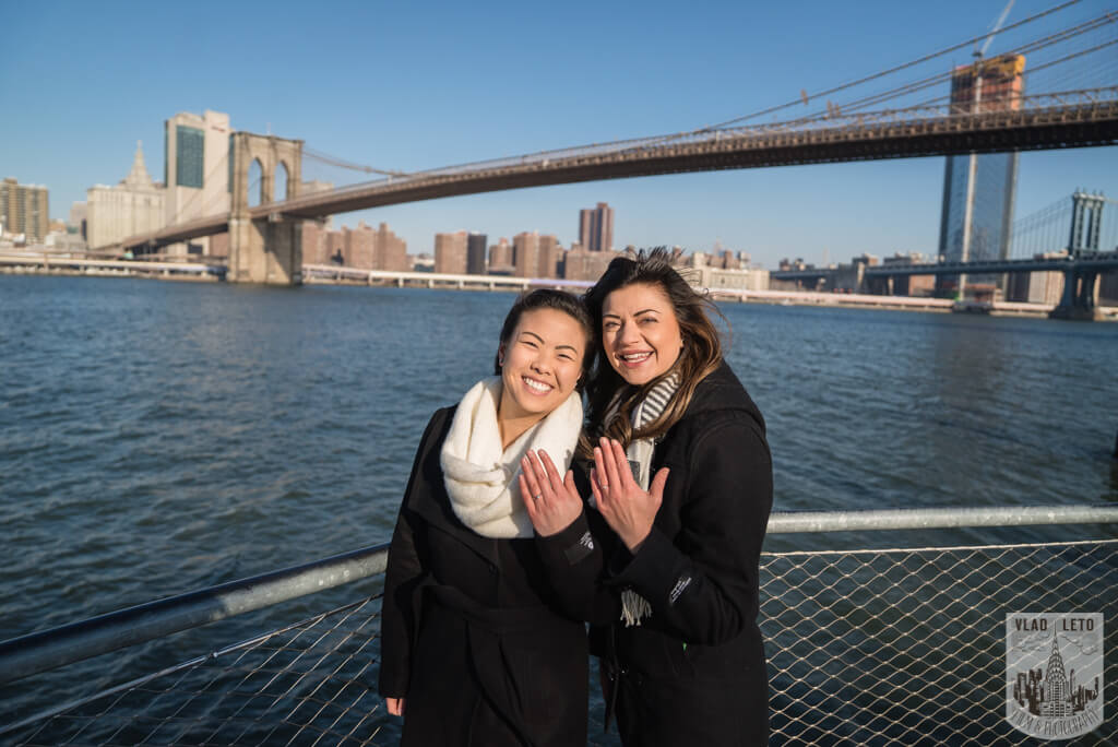 Same sex couple proposal NYC