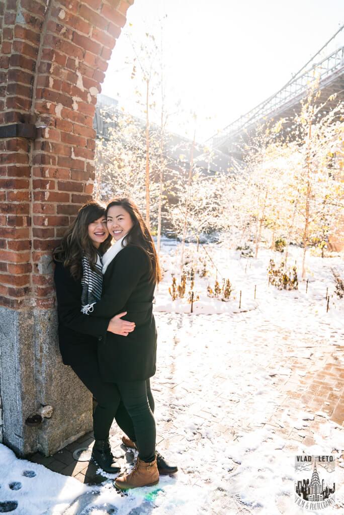 Photo 4 Same Sex proposal by Brooklyn Bridge + Engagement in Central Park | VladLeto