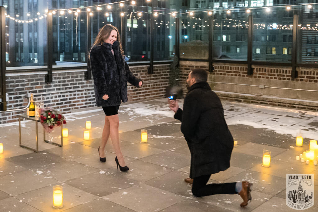 private rooftop marriage proposal