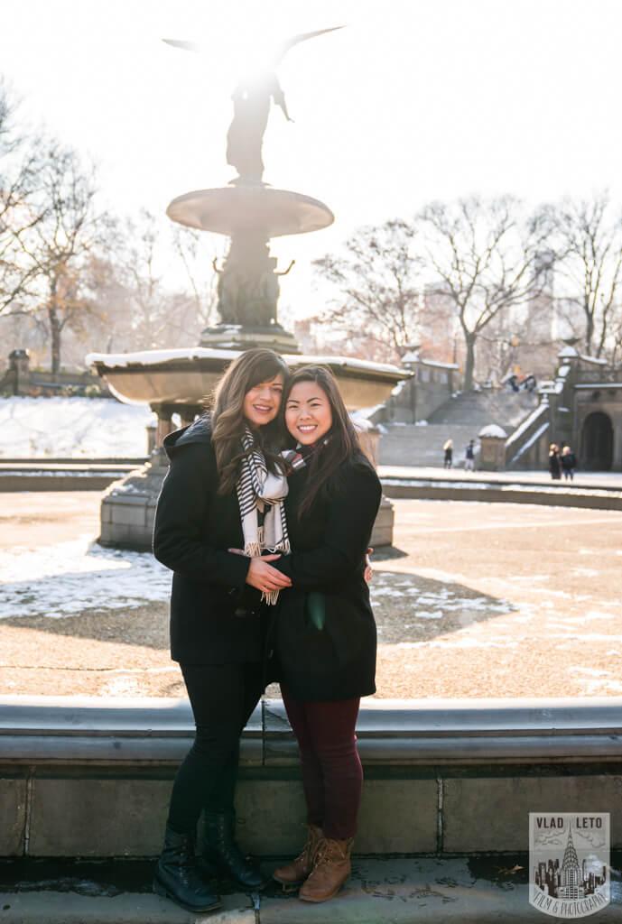 Photo 18 Same Sex proposal by Brooklyn Bridge + Engagement in Central Park | VladLeto