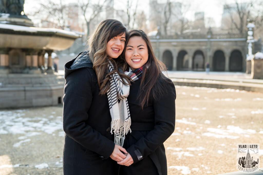 Photo 43 Same Sex proposal by Brooklyn Bridge + Engagement in Central Park | VladLeto