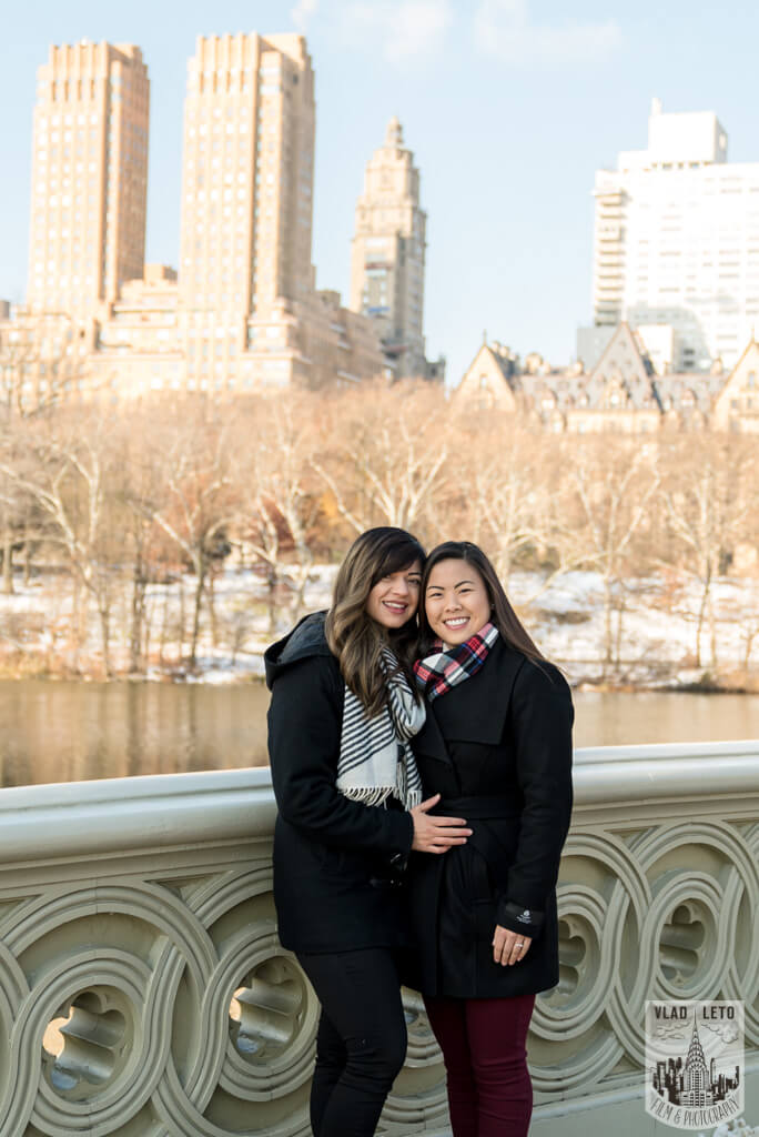 Photo 23 Same Sex proposal by Brooklyn Bridge + Engagement in Central Park | VladLeto