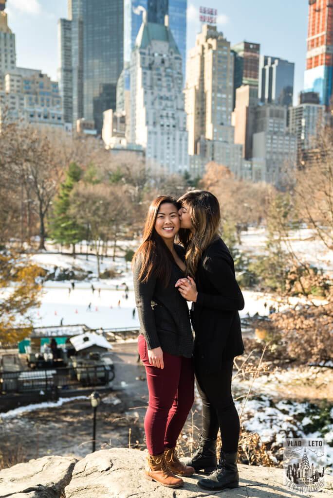 Photo 15 Same Sex proposal by Brooklyn Bridge + Engagement in Central Park | VladLeto