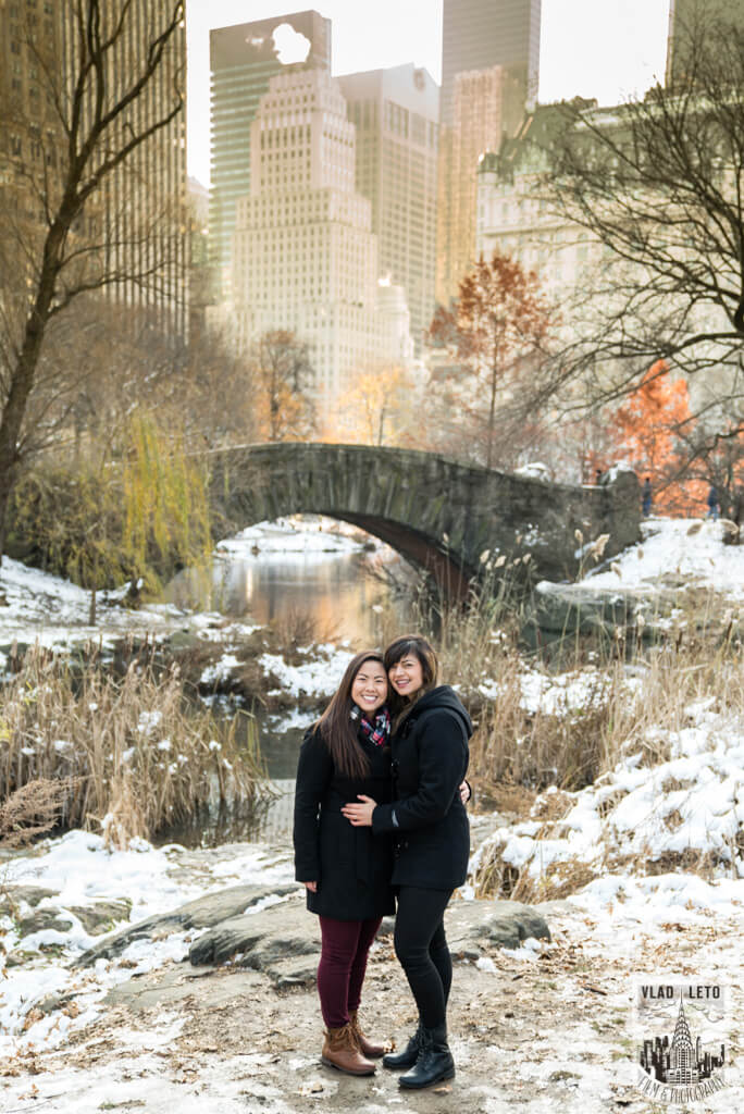 Photo 13 Same Sex proposal by Brooklyn Bridge + Engagement in Central Park | VladLeto