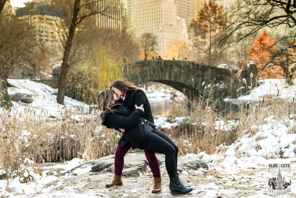 Photo 12 Same Sex proposal by Brooklyn Bridge + Engagement in Central Park | VladLeto