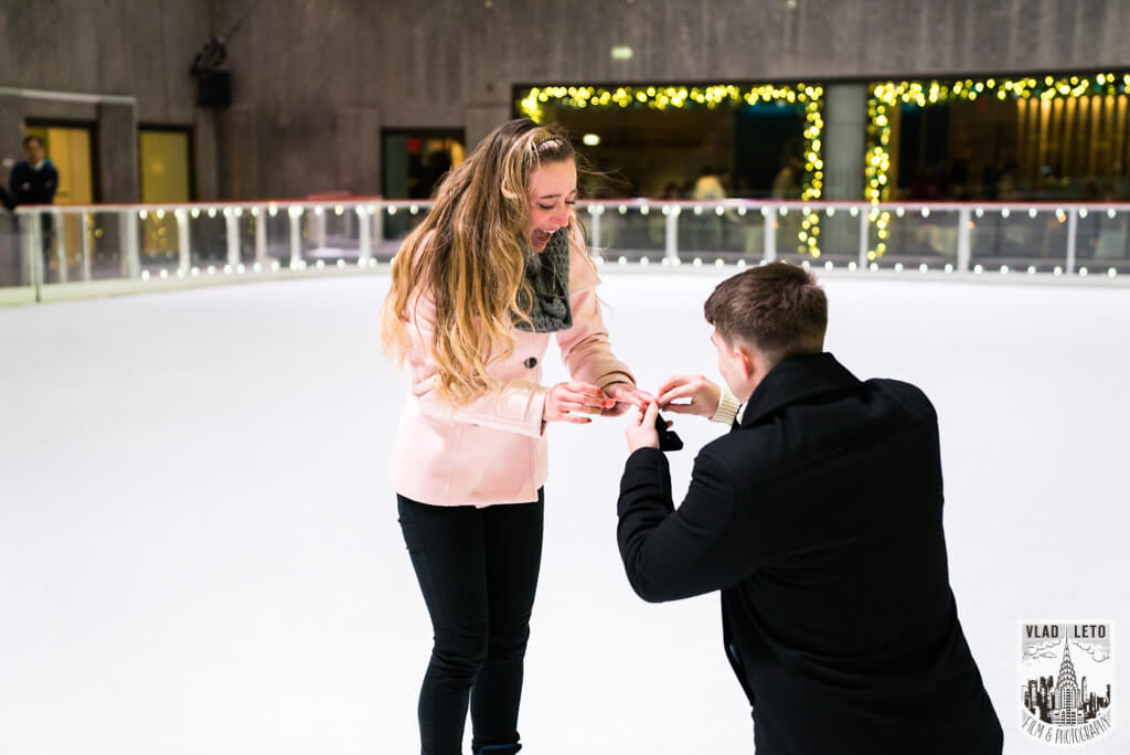 PROPOSE AT THE RINK AT ROCKEFELLER CENTER IN NYC