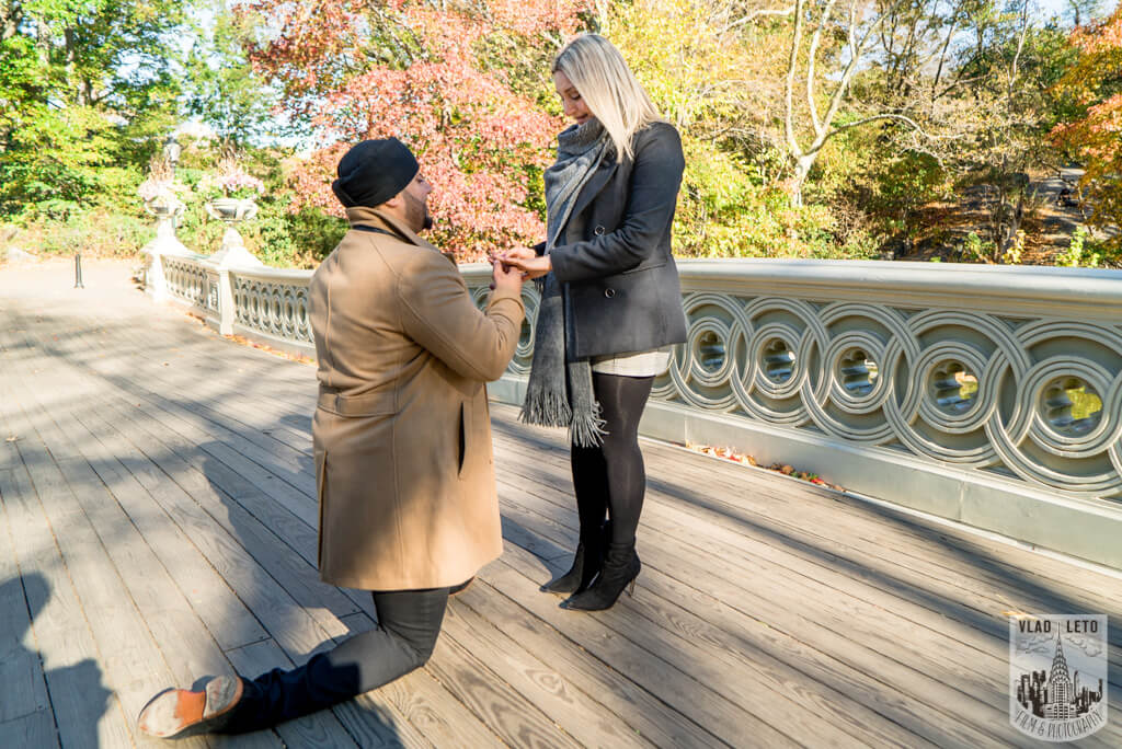 Proposal spots in Central Park, Bow Bridge