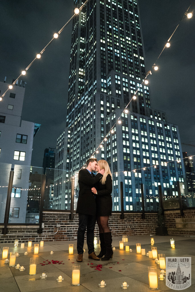 Photo 3 Private Rooftop Proposal with Empire State Building view